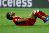 إصابة صلاح تبعده عن مواجهة برشلونة في دوري الأبطال