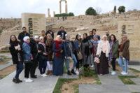 """طلبة """"عمان العربية"""" يزورون متحف جبل القلعة"""