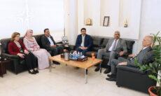 """بحث التعاون الاكاديمي بين """"عمان العربية"""" والملحقية الثقافية العراقية"""