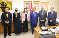 """رئيس """"عمان العربية"""" يستقبل وفداً من اتحاد الجامعات العربية برئاسة معالي الأمين العام"""